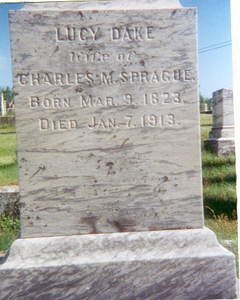 Lucy Dake Tombstone