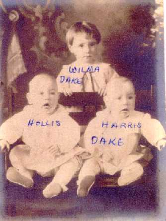 Wilma and brothers Hollis and Harris